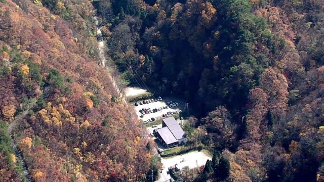 aerial, tengendai-kogen ropeway, yamagata, japan - satoyama scenery stock videos & royalty-free footage