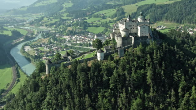 tennengebirge (fortress salzburg) - traditionally austrian stock videos & royalty-free footage
