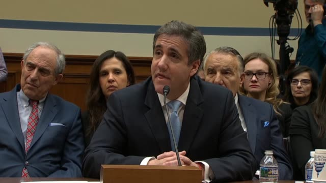tennessee congressman jim cooper asks former donald trump attorney michael cohen with its he is most concerned about that 60 million twitter... - testimony stock videos & royalty-free footage
