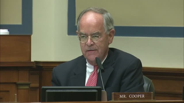 tennessee congressman jim cooper asks postmaster general louis dejoy at a house oversight and reform committee hearing if he were above the law that... - shock tactics stock videos & royalty-free footage