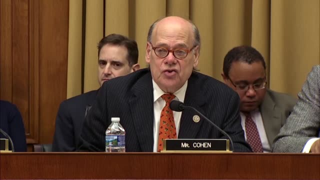 tennessee congressman steve cohen asks deputy attorney general rod rosenstein at a hearing of the house judiciary committee about his service in a... - christopher a. wray stock videos & royalty-free footage
