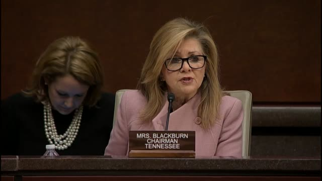 tennessee congresswoman marsha blackburn who leads the select investigative panel of the house energy and commerce committee tasked with an inquiry... - tennessee stock videos & royalty-free footage