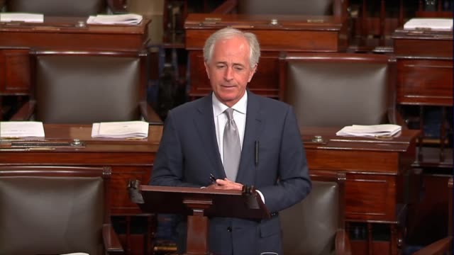 tennessee senator bob corker says as tariffs were pursued by the trump administration that moments arise when congress should assert its authority in... - tariff stock videos & royalty-free footage