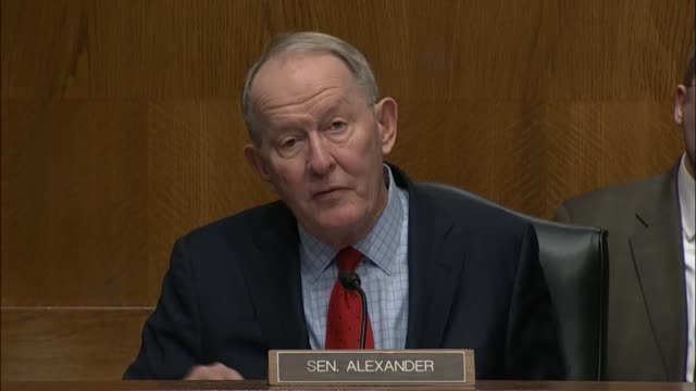 tennessee senator lamar alexander reminds congressman tom price of georgia of the responsibilities of the department of health and human services,... - medicaid stock videos & royalty-free footage