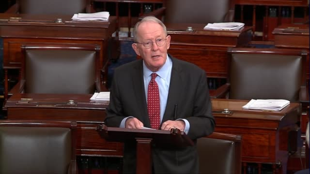 tennessee senator lamar alexander says on opening day of the 116th congress that lawmakers are not defined by the fights they have but admired or not... - editorial stock videos & royalty-free footage