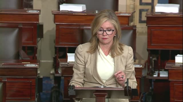 tennessee senator marsha blackburn says in a floor speech about google, facebook and big tech companies that big tech biases were a problem but... - big tech stock videos & royalty-free footage