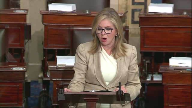 stockvideo's en b-roll-footage met tennessee senator marsha blackburn says in a floor speech about google, facebook and big tech companies that sometimes it was hard to tell her the... - satire