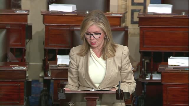 tennessee senator marsha blackburn says in a floor speech about google, facebook and big tech companies that facebook could set up an approval... - big tech stock videos & royalty-free footage