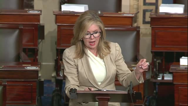 tennessee senator marsha blackburn says in concluding a floor speech about google, facebook and big tech companies that big tech and their political... - big tech stock videos & royalty-free footage