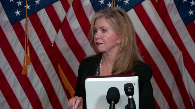 tennessee senator marsha blackburn tells reporters outside first hearing with seventh circuit judge amy coney barrett on her supreme court nomination... - employment document stock videos & royalty-free footage