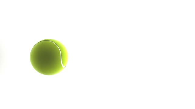 tennis ball on white background - ball stock videos and b-roll footage