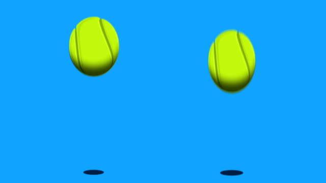 tennis ball - bouncing stock videos & royalty-free footage