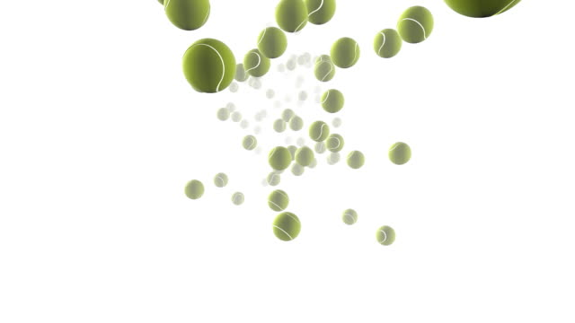 tennis balls bouncing - tennis ball stock videos & royalty-free footage