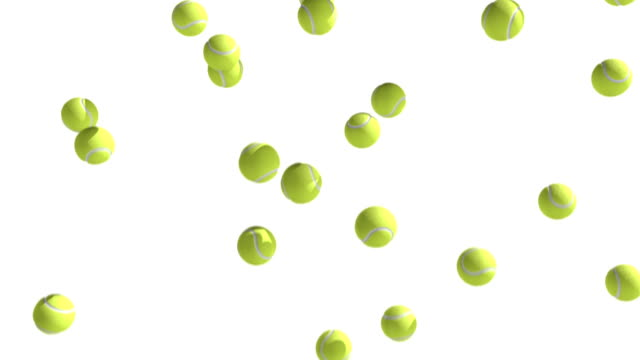 tennis balls moving down - tennis ball stock videos & royalty-free footage