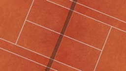 Tennis Clay Court Aerial Vertical Top View