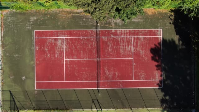 tennis court as seen from above - rectangle stock videos & royalty-free footage