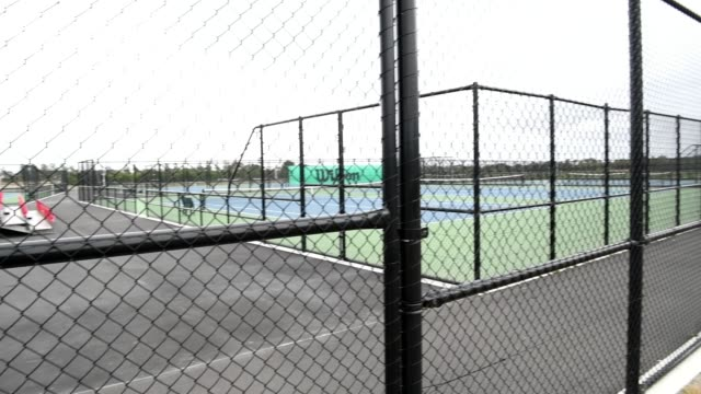 tennis courts at nga puna wai on march 21, 2020 in christchurch, new zealand. sporting codes across new zealand have cancelled competition in... - all around competition stock videos & royalty-free footage