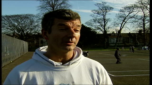 tennis for free campaign arrives in haringey england london haringey bruce castle park ext children receiving tennis coaching under the 'tennis for... - t in the park stock-videos und b-roll-filmmaterial