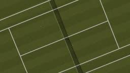 Tennis Grass Court Aerial Vertical Top View