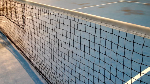 tennis in court - netting stock videos & royalty-free footage