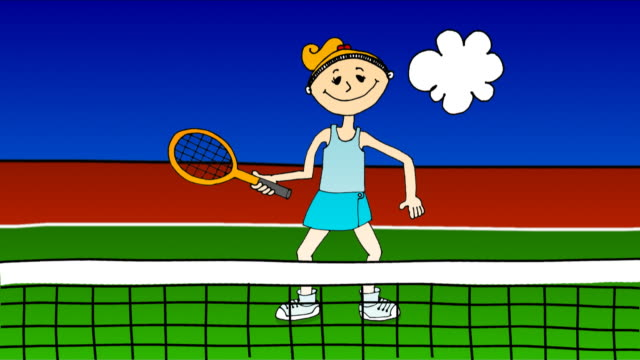 Cartoon Tennis Racket Videos And B Roll Footage