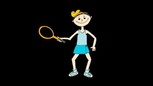vídeos de stock, filmes e b-roll de jogador de tênis dos - tênis esporte de raquete