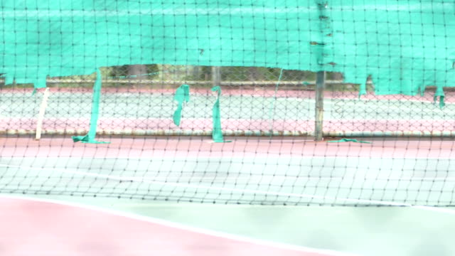 tennis player hitting a dusty ball - forehand stock videos & royalty-free footage