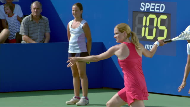 tennis player hitting a forehand - professional sportsperson stock videos & royalty-free footage