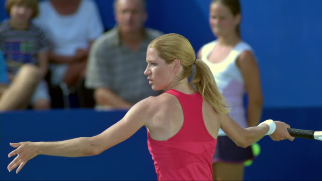 Tennis Player Hitting A Forehand