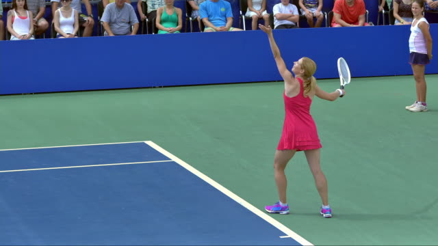 tennis player serving a ball - serving sport stock videos and b-roll footage