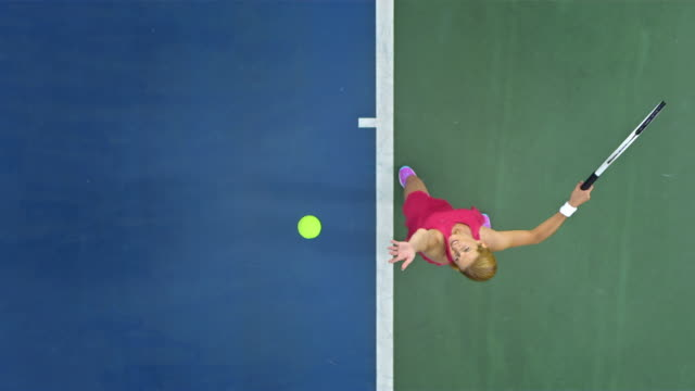 tennis player serving the ball - sportsperson stock videos & royalty-free footage