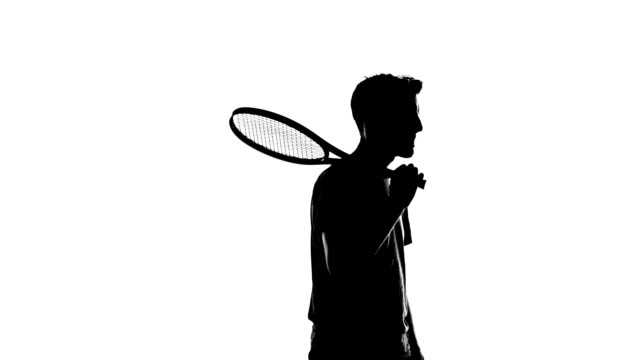 tennis player silhouette - back lit stock videos & royalty-free footage