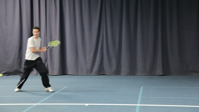 tennis player - forehand stock videos & royalty-free footage