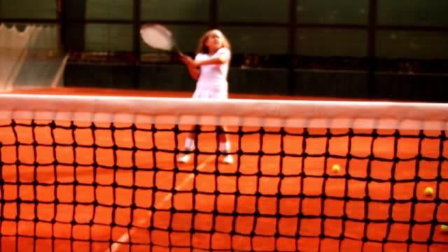 tennis player (hd) - netting stock videos and b-roll footage
