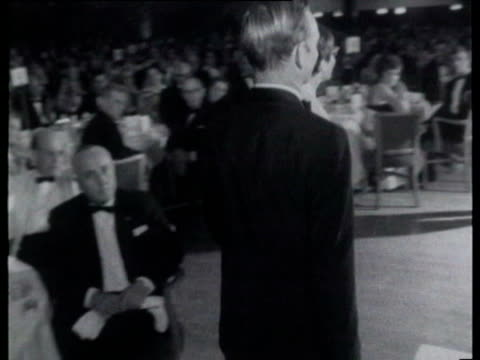 tennis players rod laver and billie-jean king dancing at post-wimbledon ball. billie-jean king and rod laver dancing on july 07, 1968 in london - ビリー・ジーン・キング点の映像素材/bロール