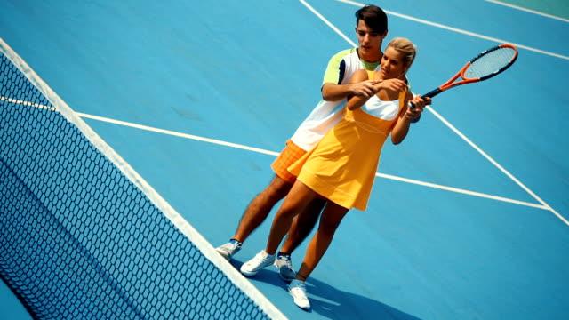 Tennis practice.