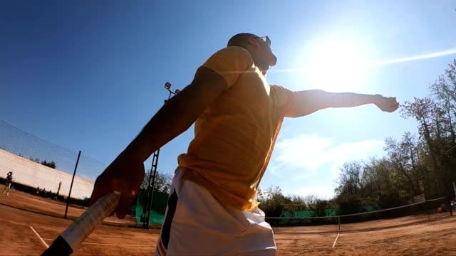 tennis servieren - tennis stock-videos und b-roll-filmmaterial