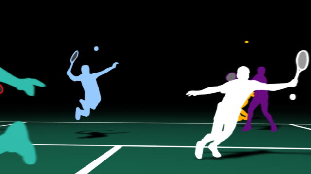 tennis si̇lhouettes - tennis stock videos & royalty-free footage