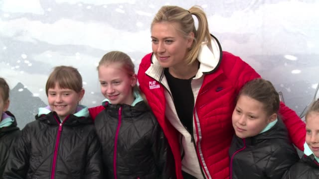 tennis star maria sharapova on wednesday visited the sochi tennis court where she first played the game as a child clean sharapova returns to... - maria sharapova stock videos and b-roll footage