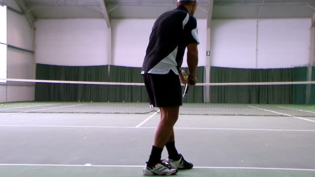 tennis topspin serve - serving sport stock videos and b-roll footage