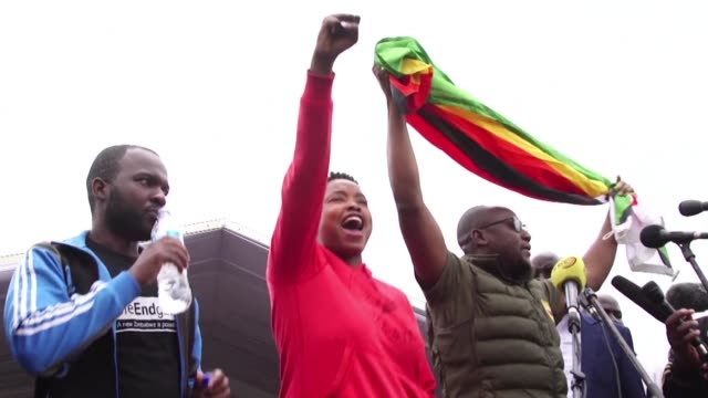 tens of thousands of overjoyed protesters flooded zimbabwe's streets saturday celebrating the crumbling of president robert mugabe's ruthless regime... - zimbabwe stock videos & royalty-free footage