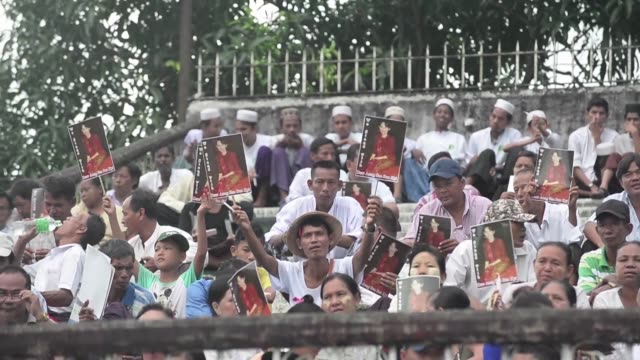 tens of thousands of people filled a football stadium in yangon for an interfaith prayer ceremony on tuesday a show of unity in a country seared by... - rohingya culture stock videos and b-roll footage