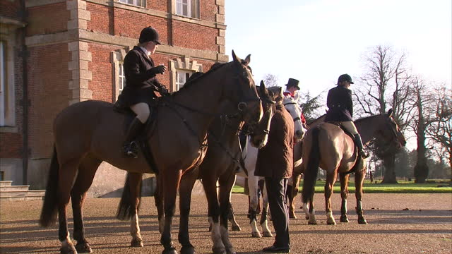 tens of thousands of people turned out in support of their local hunts today despite the government's admission there's no prospect of lifting the... - owen paterson stock videos and b-roll footage