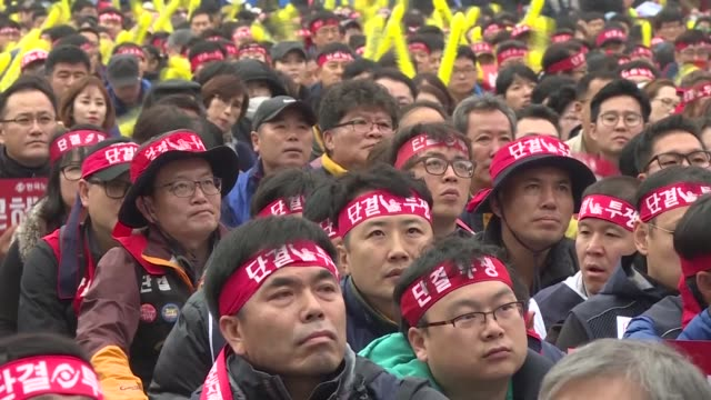 Tens of thousands of protestors gather in Seoul for the fourth in a weekly series of mass protests aimed at forcing President Park Geun Hye to resign...