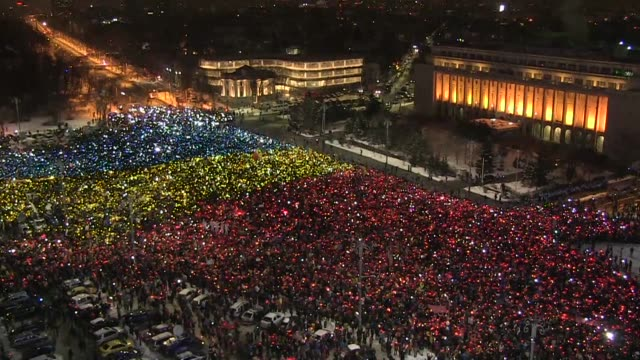 Tens of thousands of Romanians brave the cold and return to the streets in protest calling on the government to resign as they accuse it of...