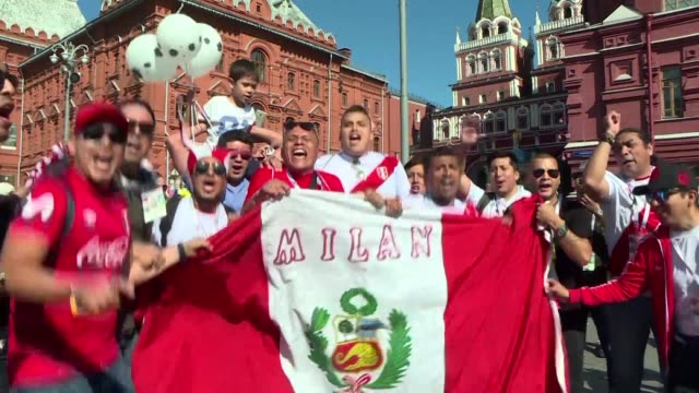 tens of thousands of south americans have flocked to moscow for the world cup and become the most visible group of visitors so far with peruvian... - mexican american stock videos & royalty-free footage