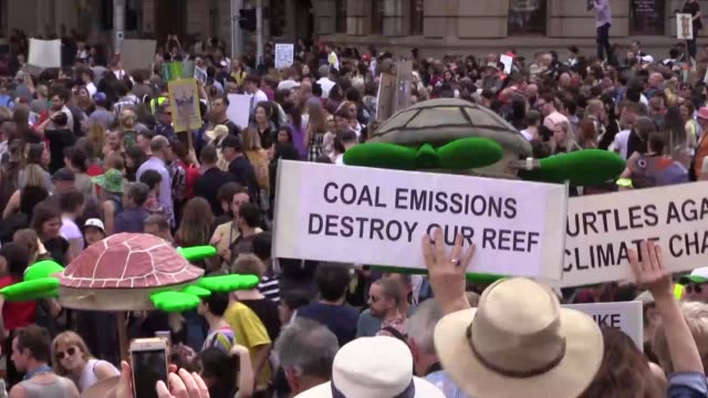 tens of thousands of students are on streets of australia on friday demanding action on climate change local media reported the mass march is... - climate protest stock videos & royalty-free footage