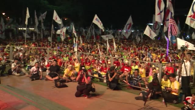 tens of thousands of supporters gathered in the opposition stronghold of penang on friday two days before malaysias national elections clean malaysia... - penang stock videos and b-roll footage