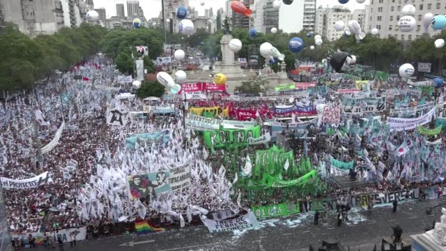 tens of thousands of supporters rallied sunday for argentine president cristina kirchner days after a judge dismissed allegations brought against her... - prosecutor stock videos & royalty-free footage
