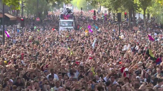 tens of thousands of young people attended the 17th techno parade in paris a yearly pilgrimage to promote electronic music - techno music stock videos & royalty-free footage